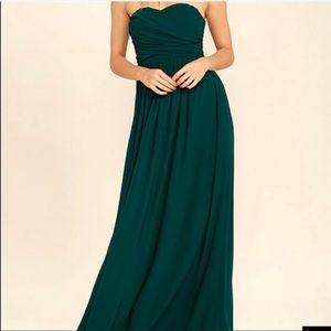 Lulu's Strapless Sweetheart Maxi Dress